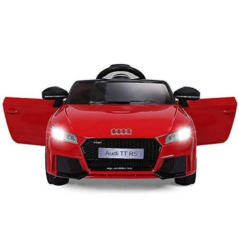 Costzon Kids Ride On Car, 12V Licensed Audi TT RS, Remote Control Manual Two Modes Operation, MP3 Lights (Bright Red)