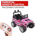 Ride on Truck 3 Speed w/Remote Control Motorized for Kids LED (Pink)