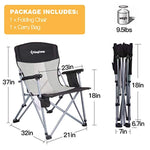KingCamp Camping Chair Mesh High Back Ergonom with Cup Holder
