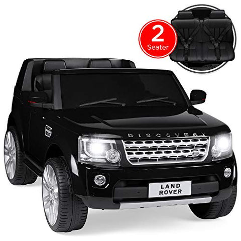 Land Rover Ride-On with RC, Lights/Sounds, MP3, White