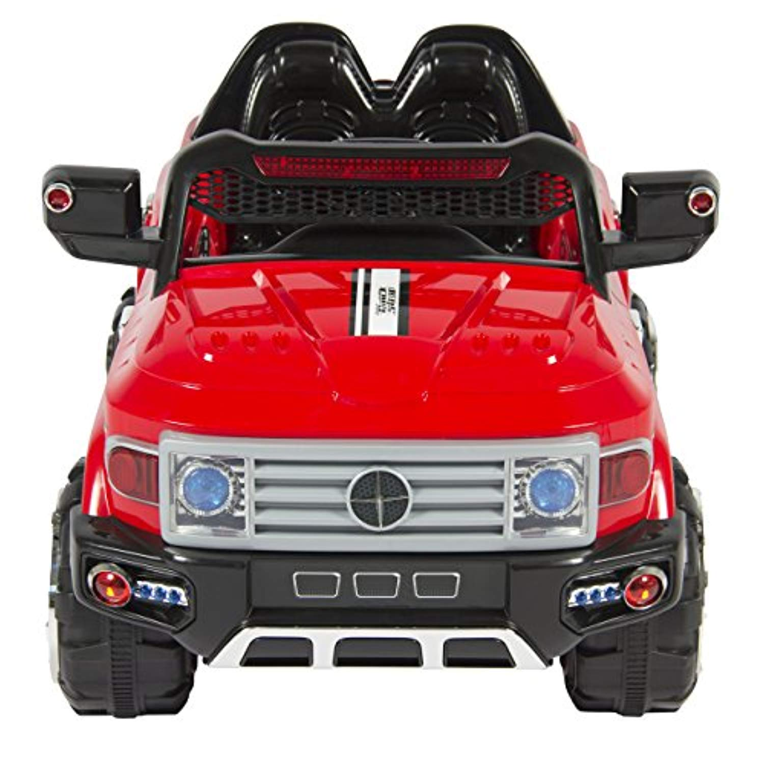 Best Choice Products 12V Kids Battery Powered RC Remote Control Truck SUV Ride-On Car w/ 2 Speeds- Red
