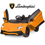 Best Choice Products Kids 12V Ride On Electric Lamborghini with 2 Speeds, LED Lights/Sounds, Orange