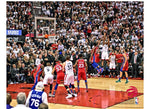Kawhi Leonard Toronto Raptors Fanatics Authentic Unsigned Game Winning Shot vs. Philadelphia 76ers Photograph