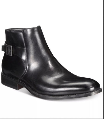 KENNETH COLE UNLISTED HALF N HALF ANKLE BOOTS MEN'S SIZE 10 M Black NWOB