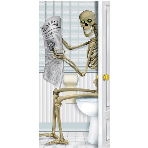 Skeleton Restroom Door Cover Halloween Decoration