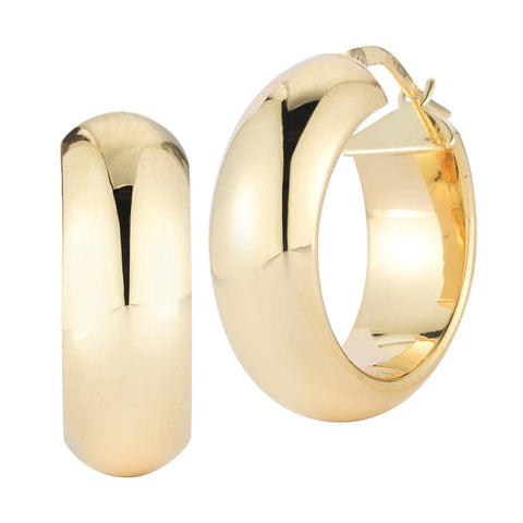 18kt Yellow Gold Round Hoop Earrings