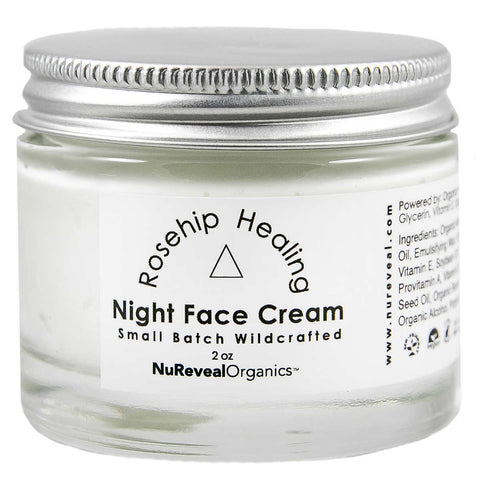 NuReveal Organics Rosehip Healing Night Cream, 2.0 oz