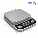 Digital Food Scale/Kitchen Scale/Postal Scale – Weigh in Pounds, Ounces, Grams - Precise Weight Scale 1g (0.01oz) to 11 lbs - Batteries Included