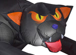 Gemmy Industries Yard Inflatables Evil Eyed Black Cat, 4 ft