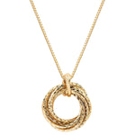 14kt Yellow Gold Love Knot Pendant