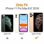 MoKo Compatible with iPhone 11 Pro Max Case, Reinforced Corner TPU Bumper + Anti-Yellow Transparent Hard Panel Cover Fit Apple iPhone 11 Pro Max 6.5 inch 2019 - Crystal Clear