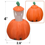 Strong Camel 4ft Animated Halloween Inflatable Pumpkin and Ghost Yard Garden Decoration
