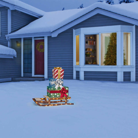 LED Sled with Presents
