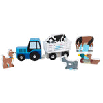 Melissa & Doug Deluxe Wooden Town and Vehicle Playset