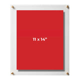 Clear Floating Acrylic Frames, 2-pack