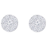 Round Brilliant 1.50 ctw VS2 Clarity, I Color Diamond 14kt White Gold Earrings