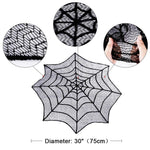 Cobweb Fireplace Scarf Halloween Decoration