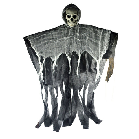 Horrible Hanging Skull Ghost Halloween Decoration
