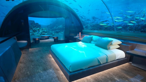 The Maldives presently has a $65,000 a night submerged lodging room