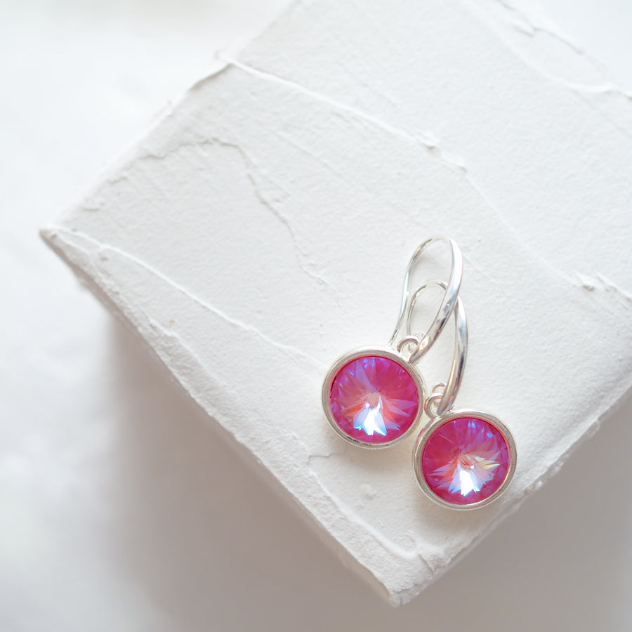 Sunni pink peony earrings