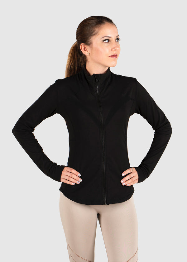 Ava Fitted Jacket - Jet Black