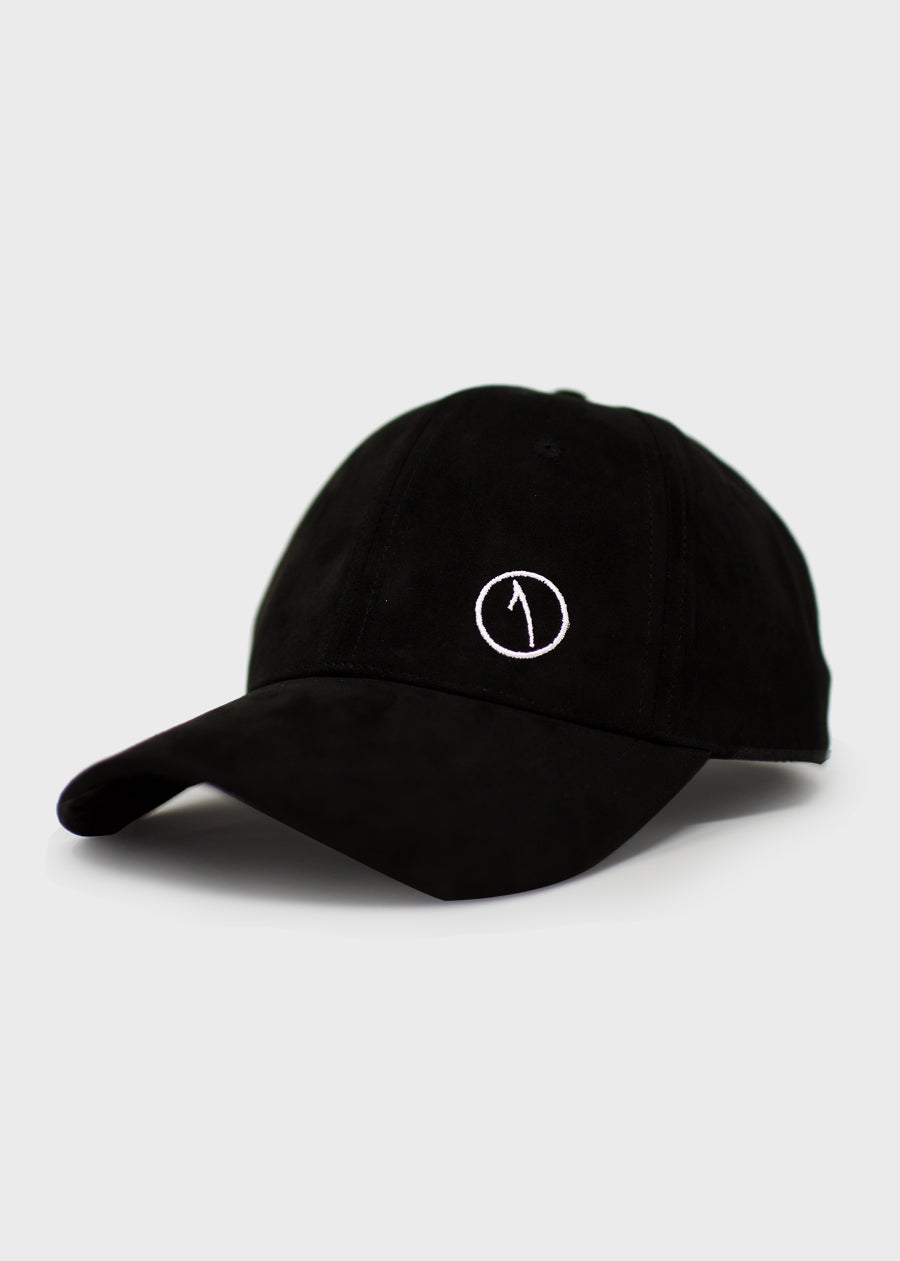 Suede Statement Cap - Jet Black