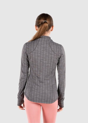 Ava Fitted Jacket - Charcoal Gray