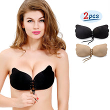 2 Pack NATIA Strapless Backless Invisible Push-up Silicone Bra
