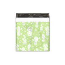 "Load image into Gallery viewer, 18x18"" Green Cactus Designer Poly Mailers Shipping Envelopes Premium Printed Bags"