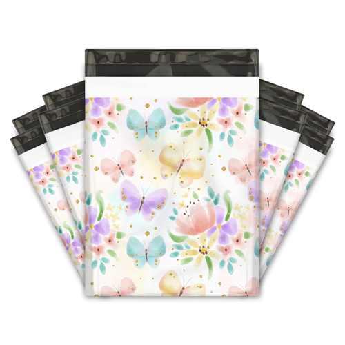 10x13 Butterfly Designer Poly Mailers Shipping Envelopes Premium Printed Bags