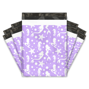 "19x24"" Purple Mermaids Designer Poly Mailers Shipping Envelopes Premium Printed Bags"