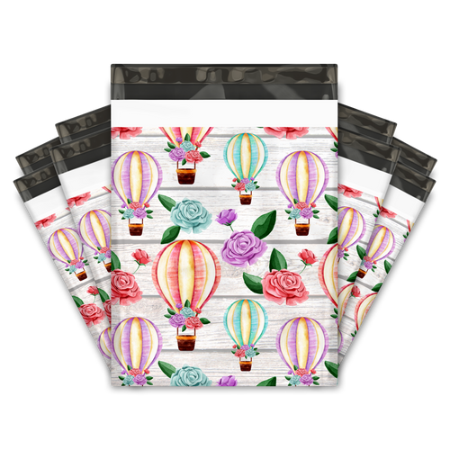 10x13 Hot Air Balloons Designer Poly Mailers Shipping Envelopes Premium Printed Bags