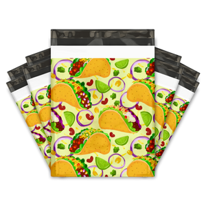 10x13 Tacos Designer Poly Mailers Shipping Envelopes Premium Printed Bags