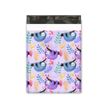 Load image into Gallery viewer, 10x13 Purple Sloths Designer Poly Mailers Shipping Envelopes Premium Printed Bags