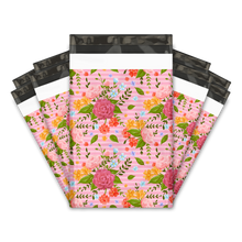 "Load image into Gallery viewer, 6x9"" Floral Roses Designer Poly Mailers Shipping Envelopes Premium Printed Bags"