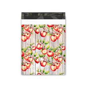10x13 Apples and Blossoms Designer Poly Mailers Shipping Envelopes Premium Printed Bags