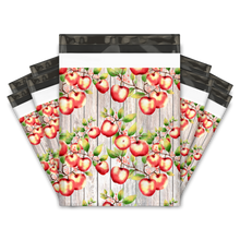 Load image into Gallery viewer, 10x13 Apples and Blossoms Designer Poly Mailers Shipping Envelopes Premium Printed Bags