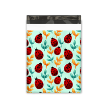 Load image into Gallery viewer, 10x13 Ladybug Designer Poly Mailers Shipping Envelopes Premium Printed Bags