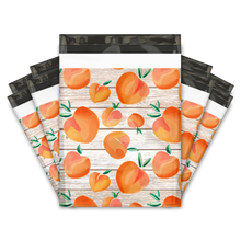 Load image into Gallery viewer, 10x13 Peaches Designer Poly Mailers Shipping Envelopes Premium Printed Bags