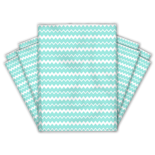 Load image into Gallery viewer, 10x13 Turquoise Thank You Stripes Polka Dots & Chevron Poly Mailers Shipping Envelopes Premium Printed Bags