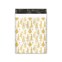 Load image into Gallery viewer, 10x13 Gold Trees Designer Poly Mailers Shipping Envelopes Premium Printed Bags