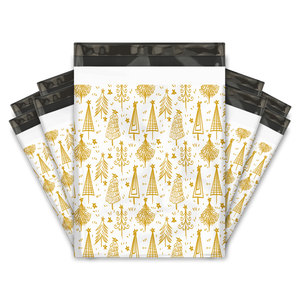10x13 Gold Trees Designer Poly Mailers Shipping Envelopes Premium Printed Bags