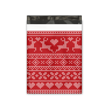 Load image into Gallery viewer, 10x13 Ugly Christmas Sweater Designer Poly Mailers Shipping Envelopes Premium Printed Bags