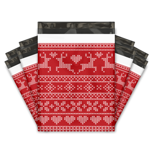 10x13 Ugly Christmas Sweater Designer Poly Mailers Shipping Envelopes Premium Printed Bags