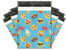 Load image into Gallery viewer, 10x13 Emoji Fun Designer Poly Mailers Shipping Envelopes Premium Printed Bags