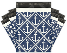 Load image into Gallery viewer, 10x13 Ahoy! Nautical Sailor Designer Poly Mailers Shipping Envelopes Premium Printed Bags