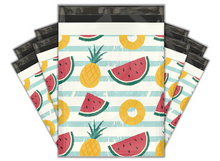 Load image into Gallery viewer, 10x13 Pineapple & Watermelon Designer Poly Mailers Shipping Envelopes Premium Printed Bags