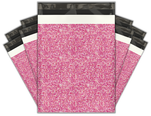 10x13 Pink Confetti Designer Poly Mailers Shipping Envelopes Premium Printed Bags