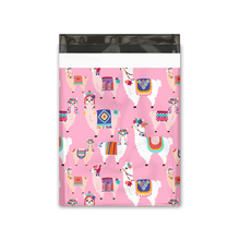 Load image into Gallery viewer, 10x13 Lovely Llama Designer Poly Mailers Shipping Envelopes Premium Printed Bags