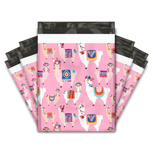 10x13 Lovely Llama Designer Poly Mailers Shipping Envelopes Premium Printed Bags